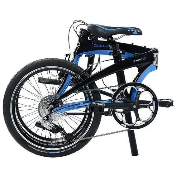 bicicleta urbana plegable dahon vigor d9 9v negra azul