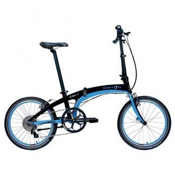 bicicleta plegable dahon vigor d9 9v negra azul